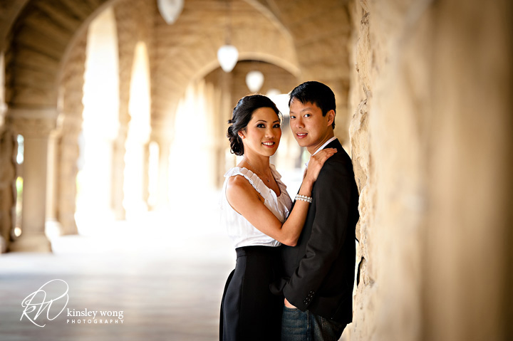 Highschool sweetheart engagment session at Stanford
