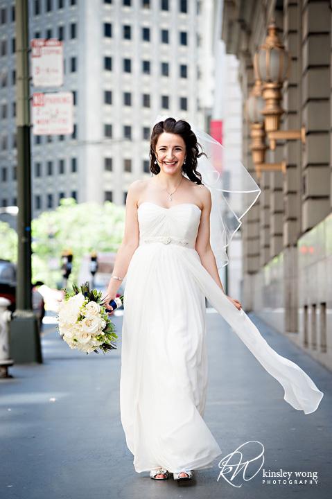 bride on the runway at the city club san francisco