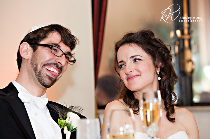 bride and groom sharing a moment at the city club san francisco