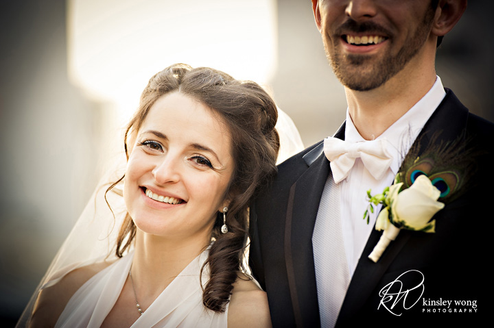 bride and groom portraits at the city club san francisco
