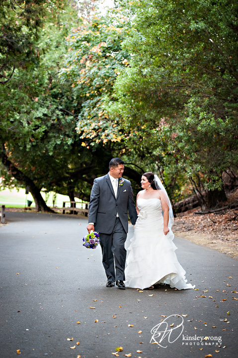 dunsmuir house bride and groom walking