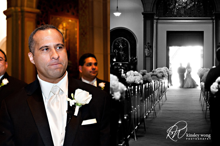 mission dolores wedding san francisco grooms first look at bride