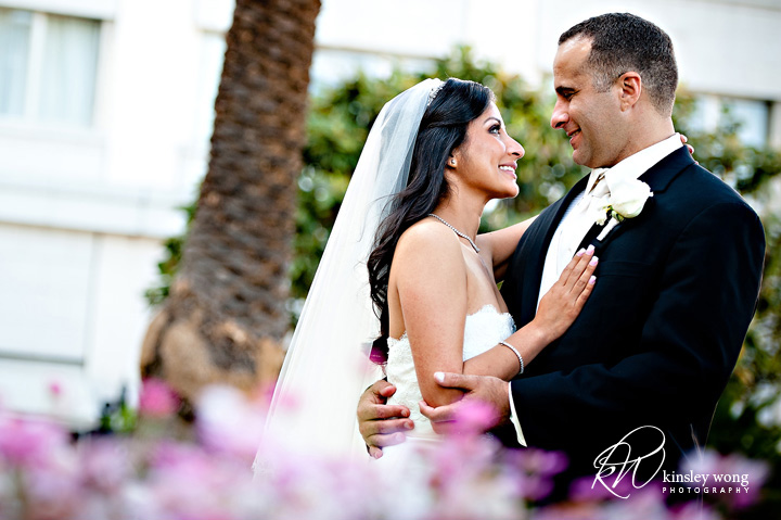 fairmont hotel wedding bride and groom portraits