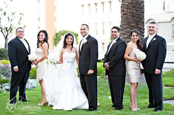 fairmont hotel bridal party group photos