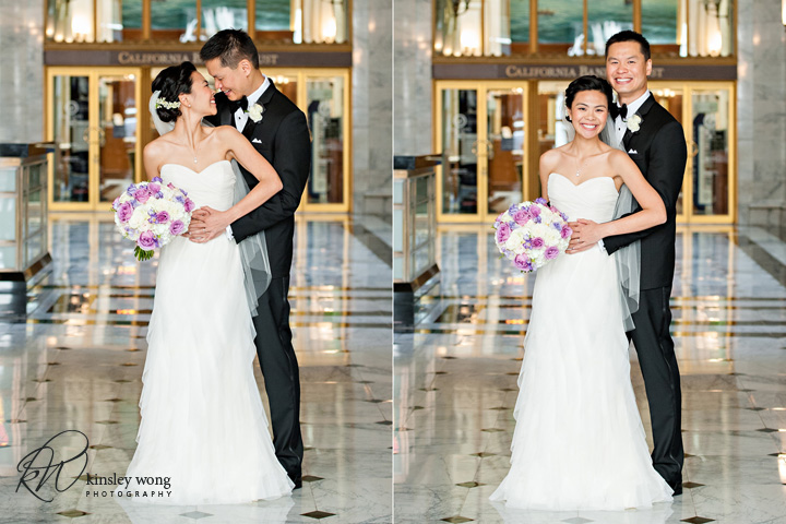 bride and groom portraits at the julia morgan ballroom