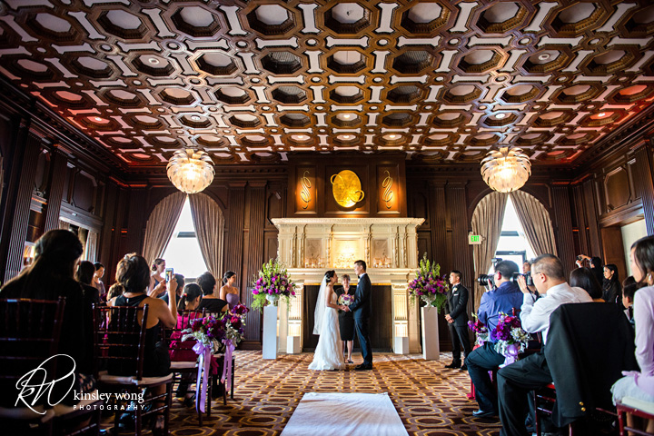 wedding ceremony at the julia morgan ballroom