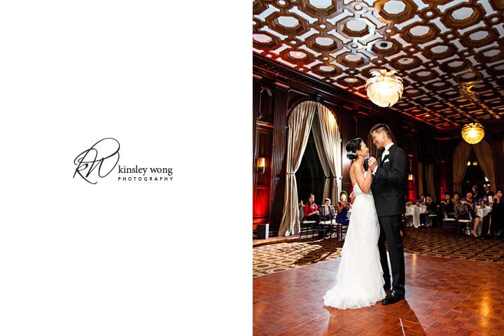 bride and groom first dance at julia morgan ballroom