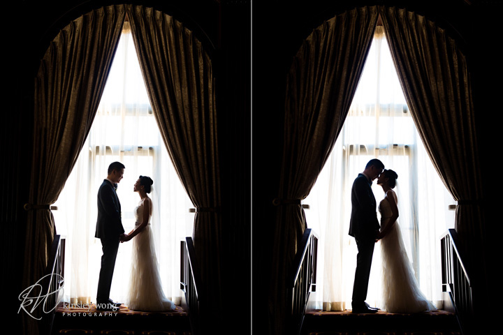 Julia Morgan Ballroom bride and groom silhouettes