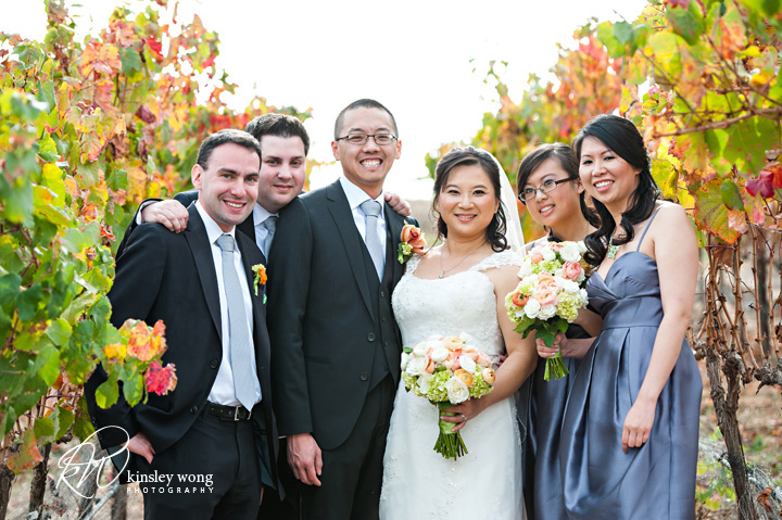 bridal party portraits at the meritage