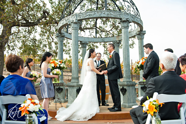 ceremony photo at the meritage resort and spa wedding site