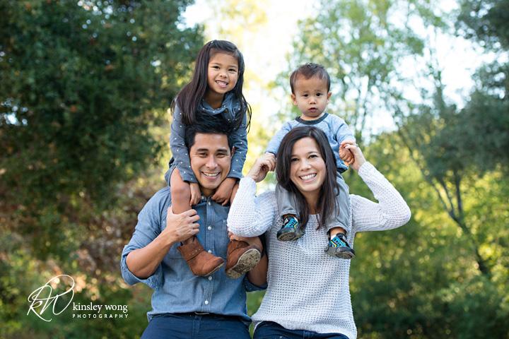 family photos at miwok park in novato