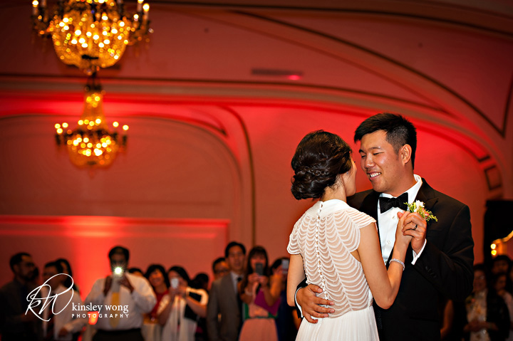 bride and groom first dance at the palace hotel