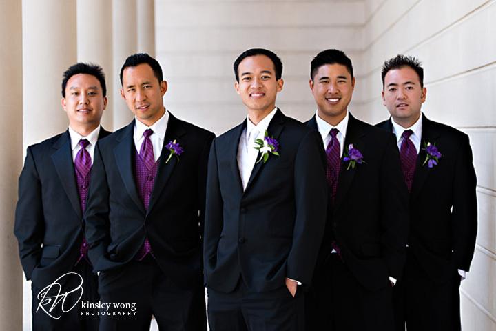 groomsmen in legion of honor