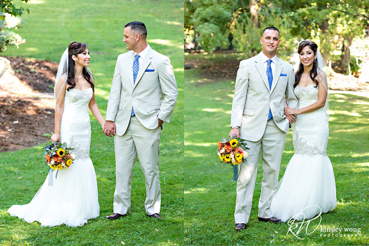 bride and groom portraits at palmdale estates
