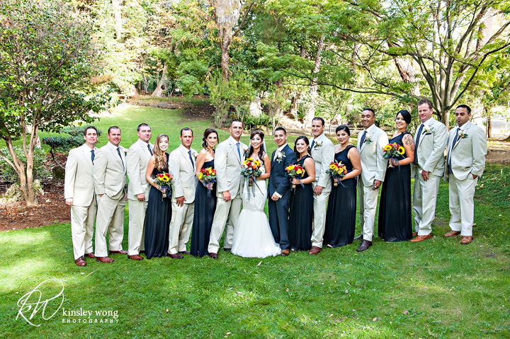 bridal party at palmdale estates