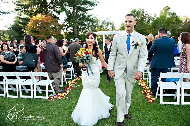 bride and groom married at palmdale estates