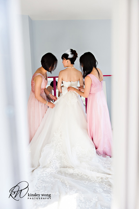 palo alto bride getting ready