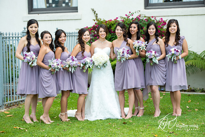 Bride and bridesmaid at Redondo Beach Historical Library