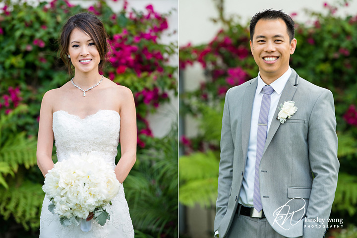 Bride and groom portraits at Redondo Beach Historical Library