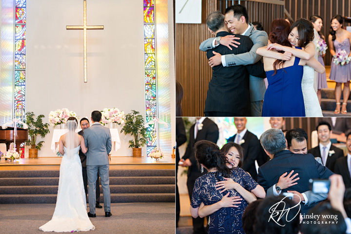 Wedding ceremony at Riviera United Methodist Church in Redondo Beach