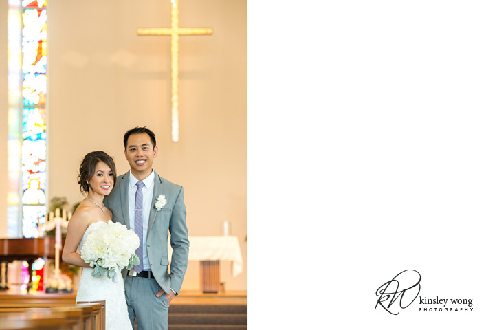 Bride and groom photos at Riviera United Methodist Church in Redondo Beach