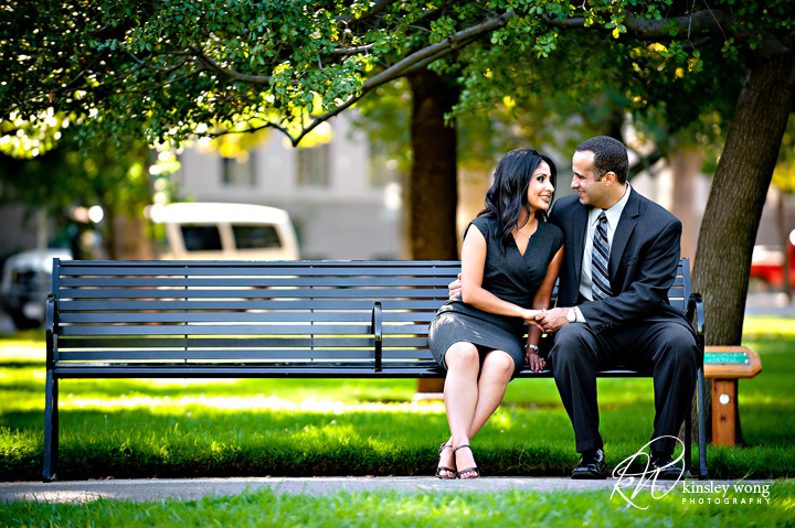 Rose Garden Sacramento Engagement