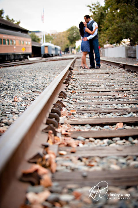 kissing on the tracks