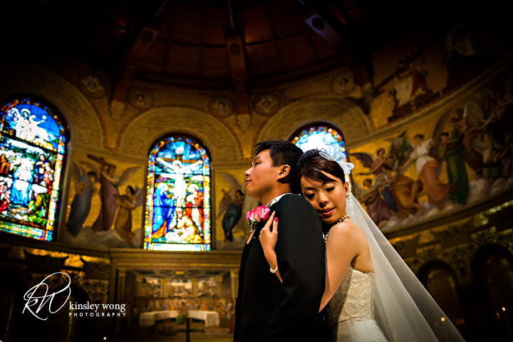 stanford memorial church bride and groom