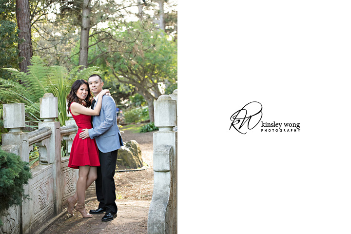 Golden Gate Park Stow Lake bridge engagement session